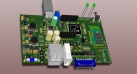 Adapter 3D model board view